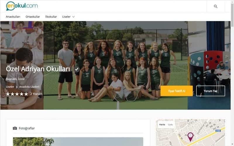 özel okul sayfası